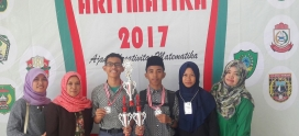Kamal dan Fajar juara Lomba Matematika Aritmatika  UIN ALAUDDIN 2017